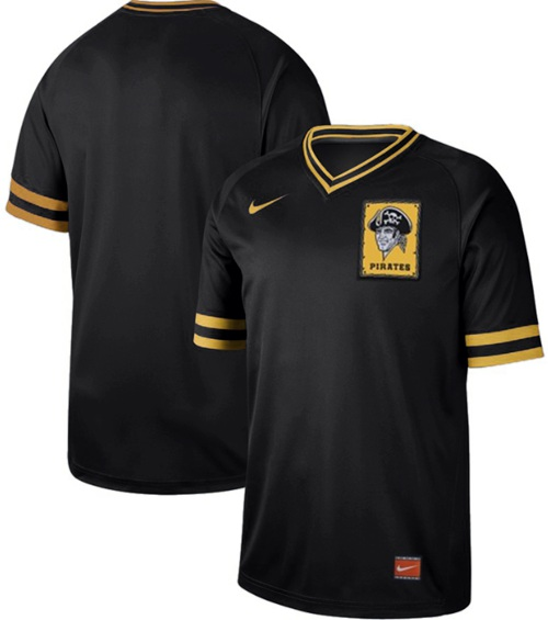 Pirates Blank Black Authentic Cooperstown Collection Stitched Baseball Jersey