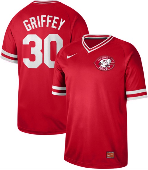 Reds #30 Ken Griffey Red Authentic Cooperstown Collection Stitched Baseball Jersey
