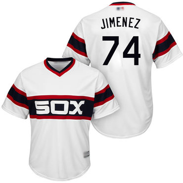 White Sox #74 Eloy Jimenez White Alternate Home Cool Base Stitched Youth Baseball Jersey