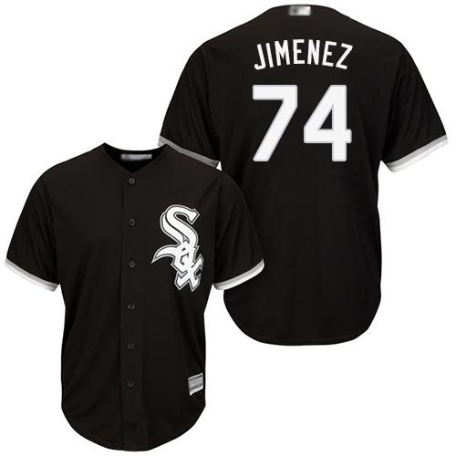White Sox #74 Eloy Jimenez Black Cool Base Stitched Youth Baseball Jersey