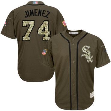 White Sox #74 Eloy Jimenez Green Salute to Service Stitched Youth Baseball Jersey