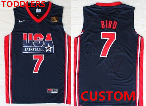 Toddlers Custom 1992 Olympics Team USA Navy Blue Swingman Jersey