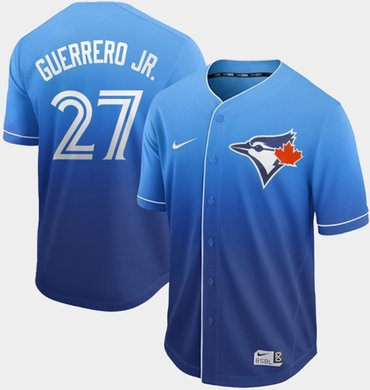 Blue Jays #27 Vladimir Guerrero Jr. Royal Fade Authentic Stitched Baseball Jersey
