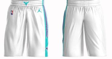 Men's Jordan Brand White Charlotte Hornets Icon Swingman Basketball Shorts
