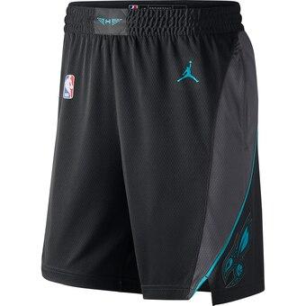 Men's Jordan Brand Black Charlotte Hornets Icon Swingman Basketball Shorts