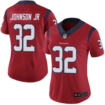Texans #32 Lonnie Johnson Jr. Red Alternate Women's Stitched Football Vapor Untouchable Limited Jersey