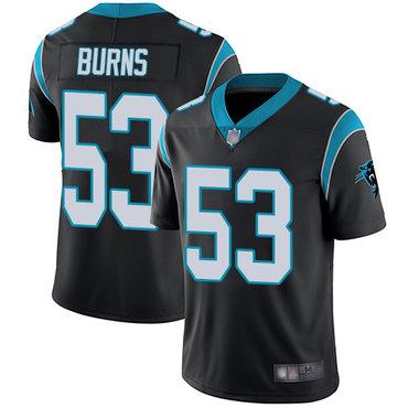 Panthers #53 Brian Burns Black Team Color Men's Stitched Football Vapor Untouchable Limited Jersey