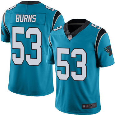 Panthers #53 Brian Burns Blue Alternate Men's Stitched Football Vapor Untouchable Limited Jersey