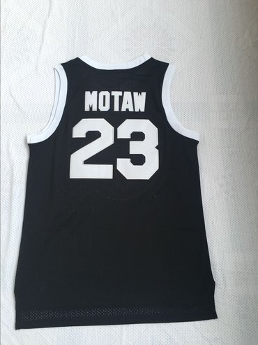 Tournament ShootOut 23 Motaw Black Throwback Movie Basketball Jersey