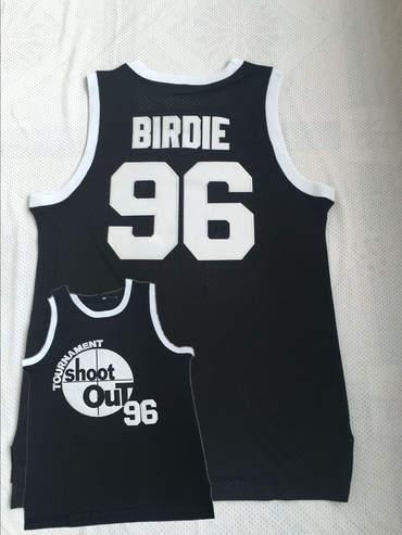 Tournament ShootOut 96 Birdie Black Throwback Movie Basketball Jersey