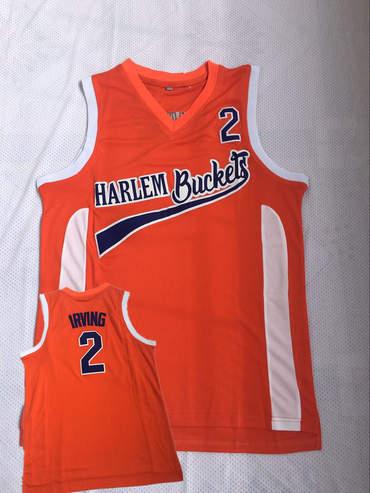 Harlem Buckets 2 Irving Orange Uncle Drew Movie Basketball Jersey