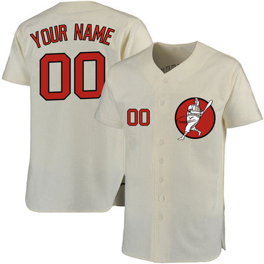 Astros Cream Men's Customized Cool Base New Design Jersey