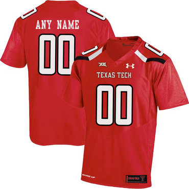 Texas Tech Red Men's Customized College Football Jersey