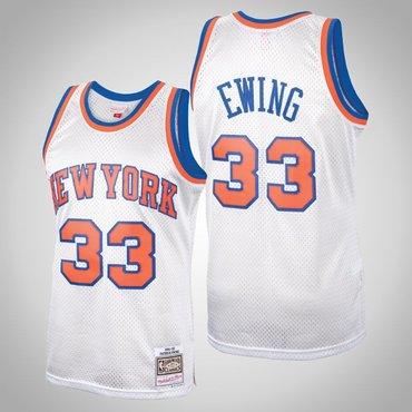 New York Knicks Patrick Ewing #33 Platinum Hardwood Classics Swingman Mitchell & Ness Jersey