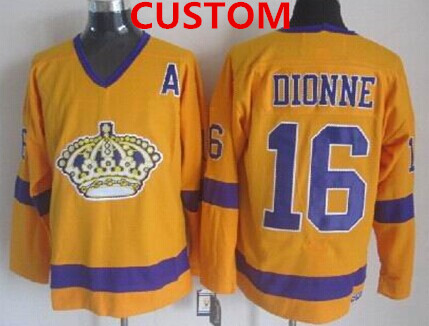 Custom Los Angeles Kings Yellow Throwback CCM Jersey