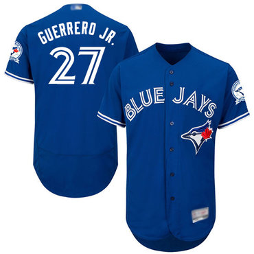 Men's Toronto Blue Jays #27 Vladimir Guerrero Jr. Blue Flexbase Authentic Collection Stitched Baseball Jersey