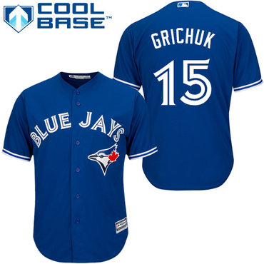 Men's Toronto Blue Jays #15 Randal Grichuk Blue New Cool Base Stitched Baseball Jersey