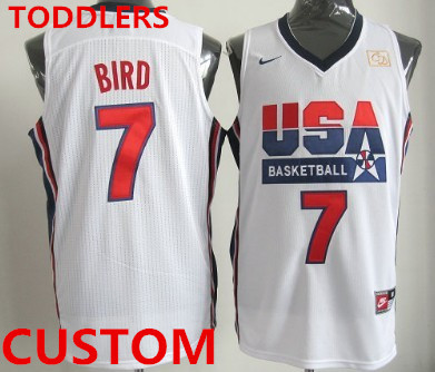Toddlers Custom 1992 Olympics Team USA White Swingman Jersey