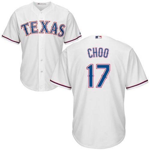 Rangers #17 Shin-Soo Choo White Cool Base Stitched Youth Baseball Jersey