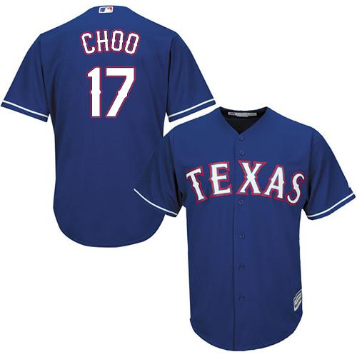 Rangers #17 Shin-Soo Choo Blue Cool Base Stitched Youth Baseball Jersey