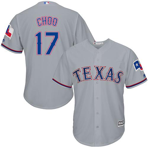 Rangers #17 Shin-Soo Choo Grey Cool Base Stitched Youth Baseball Jersey