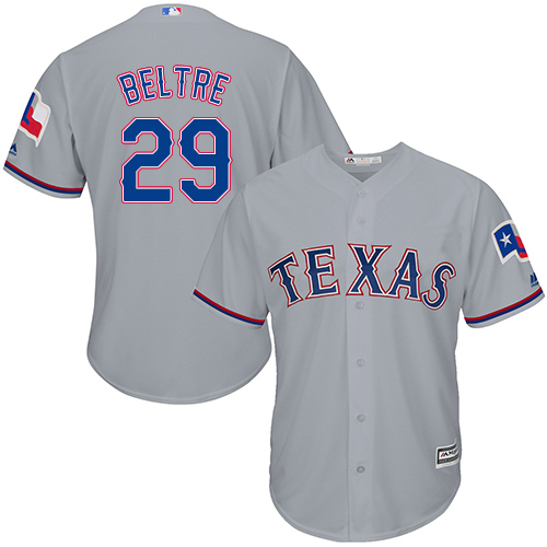 Rangers #29 Adrian Beltre Grey Cool Base Stitched Youth Baseball Jersey