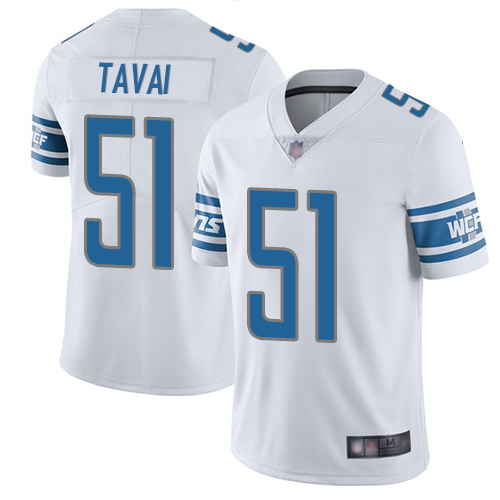 Lions #51 Jahlani Tavai White Youth Stitched Football Vapor Untouchable Limited Jersey