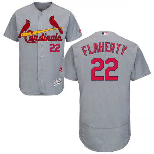 Men's St. Louis Cardinals #22 Jack Flaherty Authentic Gray Flex Base Road Collection Jersey