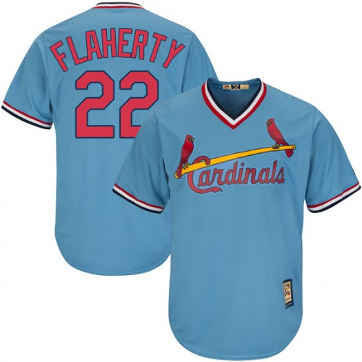 Men's St. Louis Cardinals #22 Jack Flaherty Light Blue Cool Base Alternate Cooperstown Jersey