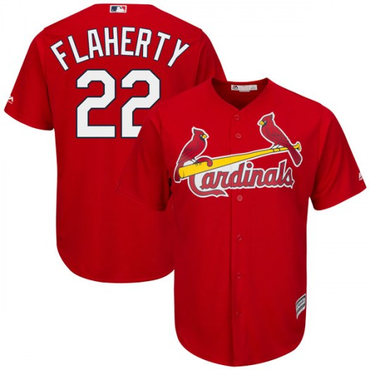 Men's St. Louis Cardinals #22 Jack Flaherty Scarlet Cool Base Alternate Jersey