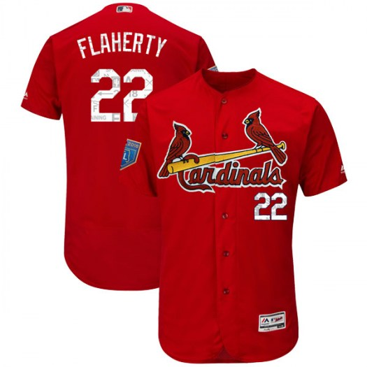 Men's St. Louis Cardinals #22 Jack Flaherty Authentic Scarlet Flex Base 2018 Spring Training Jersey