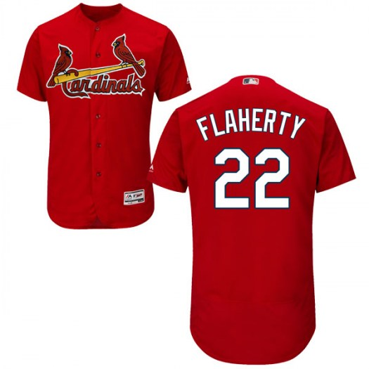 Men's St. Louis Cardinals #22 Jack Flaherty Authentic Scarlet Flex Base Alternate Collection Jersey