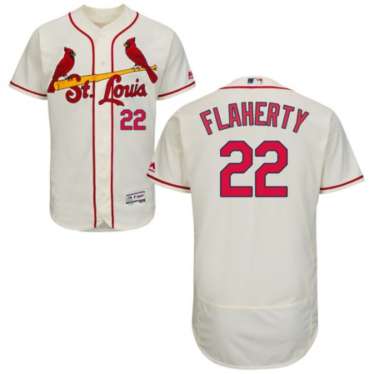 Men's St. Louis Cardinals #22 Jack Flaherty Authentic Cream Flex Base Alternate Collection Jersey