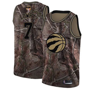 Raptors #7 Kyle Lowry Camo 2019 Finals Bound Basketball Swingman Realtree Collection Jersey