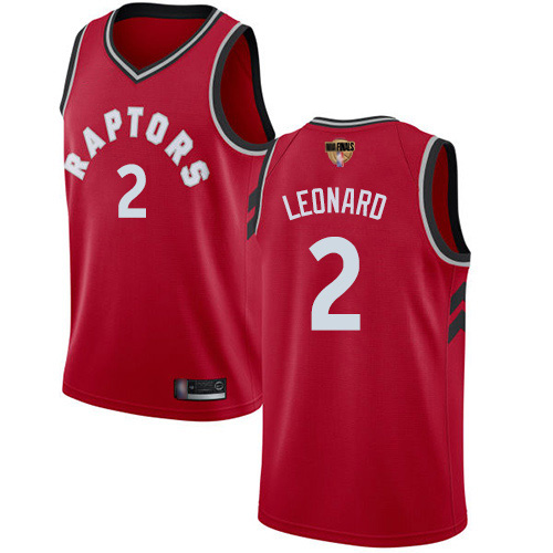 Raptors #2 Kawhi Leonard Red 2019 Finals Bound Basketball Swingman Icon Edition Jersey
