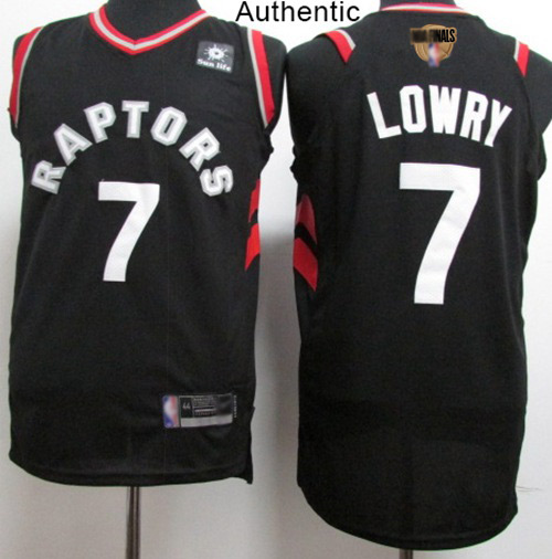 Raptors #7 Kyle Lowry Black 2019 Finals Bound Basketball Authentic Statement Edition Jersey