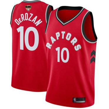 Raptors #10 DeMar DeRozan Red 2019 Finals Bound Basketball Swingman Icon Edition Jersey
