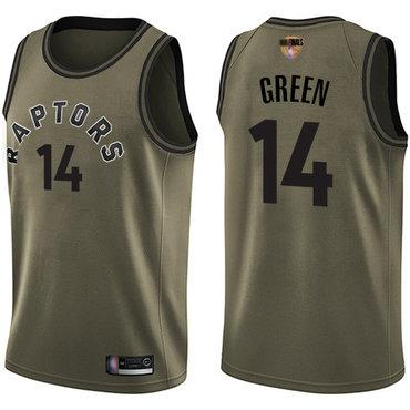 Raptors #14 Danny Green Green 2019 Finals Bound Basketball Swingman Salute to Service Jersey