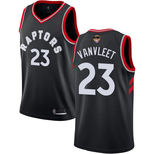 Raptors #23 Fred VanVleet Black 2019 Finals Bound Basketball Swingman Statement Edition Jersey