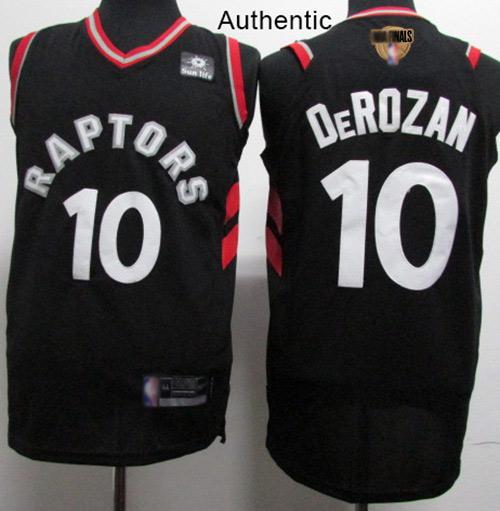 Raptors #10 DeMar DeRozan Black 2019 Finals Bound Basketball Authentic Statement Edition Jersey