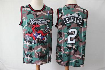 Raptors 2 Kawhi Leonard Camo Swingman Jersey