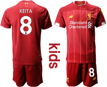 2019-20 Liverpool 8 KEITA Youth Home Soccer Jersey