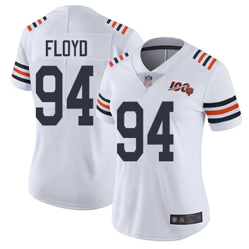 Bears #94 Leonard Floyd White Alternate Women's Stitched Football Vapor Untouchable Limited 100th Season Jersey