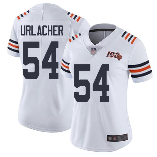 Bears #54 Brian Urlacher White Alternate Women's Stitched Football Vapor Untouchable Limited 100th Season Jersey