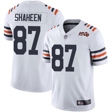 Bears #87 Adam Shaheen White Alternate Youth Stitched Football Vapor Untouchable Limited 100th Season Jersey