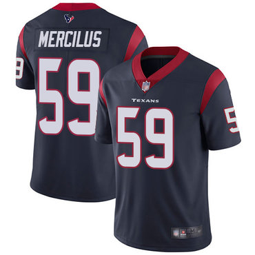Texans #59 Whitney Mercilus Navy Blue Team Color Men's Stitched Football Vapor Untouchable Limited Jersey