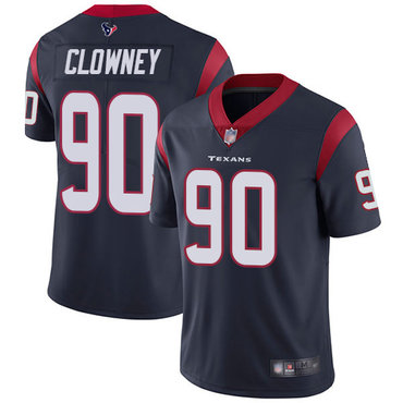 Texans #90 Jadeveon Clowney Navy Blue Team Color Men's Stitched Football Vapor Untouchable Limited Jersey