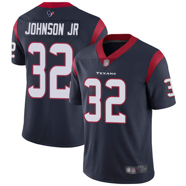 Texans #32 Lonnie Johnson Jr. Navy Blue Team Color Men's Stitched Football Vapor Untouchable Limited Jersey