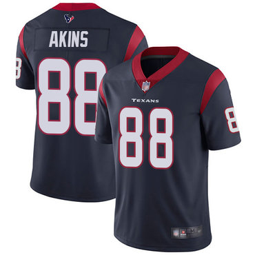Texans #88 Jordan Akins Navy Blue Team Color Men's Stitched Football Vapor Untouchable Limited Jersey