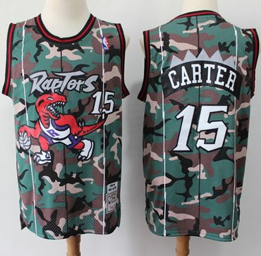 Raptors #15 Vince Carter Camo Basketball Swingman Jersey